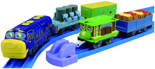 Chuggington Plarail Brewster and Zephie with Freight Cars Set (5-Car Set) (Plarail Model Train) (japan import)