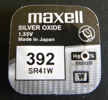 Maxell un (1) X 392 SR41W SB-B1 oxyde d'argent pour montres 1,55 V