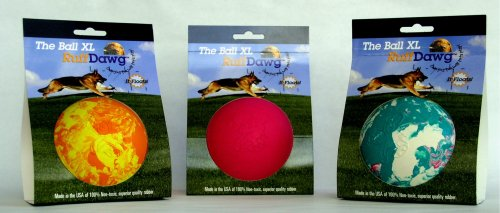 Ruff Dawg Large Ball Dog Toy, Assorted Marble Colors