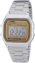 Comprar Casio CASIO Collection Men - Reloj digital de caballero de cuarzo con correa de acero inoxidable plateada (alarma, cronómetro, luz)
