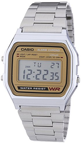 Casio Collection Men's Retro Watch A158WEA-9EF  1/100 second stopwatch, daily alarm, auto calendar.