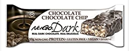 NuGo Dark, Chocolate Chocolate Chip, Dairy Free, 1.76-Ounce Bars (Pack of 12)