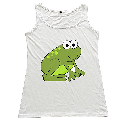 Nubia Cartoon Toad Frog Sportstyle Tank Top For Women's White Size XL