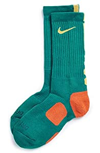 Nike Dri-Fit Elite Crew Basketball Socks-Teal-Small