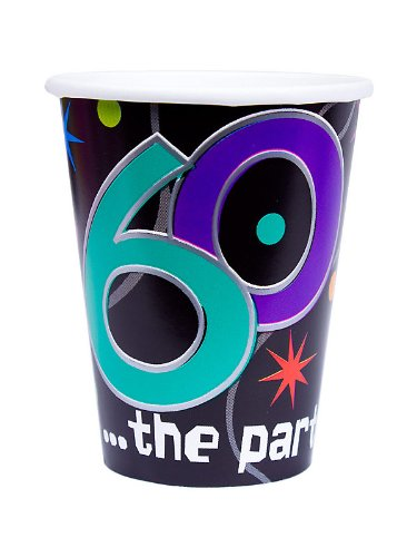 60 the Party Continues Paper Cups Package of 8 [Toy]