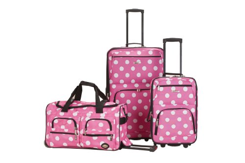 rockland-luggage-3-piece-printed-luggage-set-pink-dot-medium