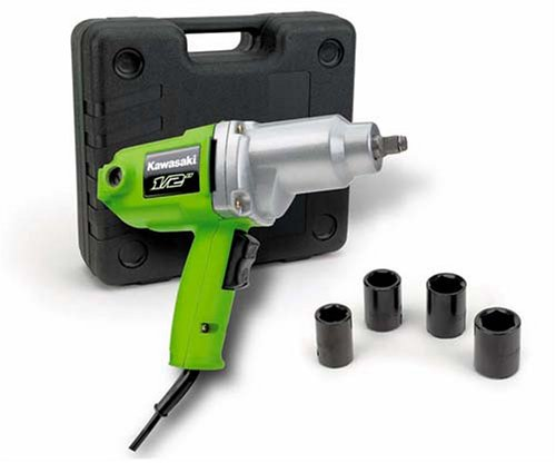 Kawasaki 840017 Green 1/2-Inch 7.0  Amp Impact Wrench Kit