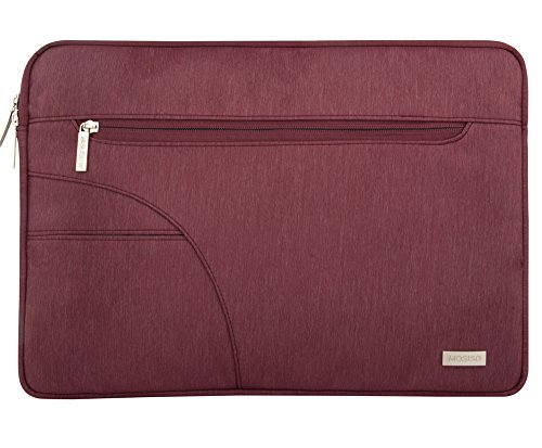 Mosiso - Custodia Borsa Involucro Sleeve Case per Acer Chromebook 11,C720,C720P,C740/HP Stream 11/Samsung Chromebook 2/Netbook/Laptop/Notebook/Computer Portatile/MacBook Air da 11-11.6 Pollici,Vino Rosso