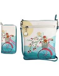 Combo Offer Of Designer Sling Bag +Wallet Green Printed Stylish Sling Bag For Girls, Womens, Ladies Wallet Purses...