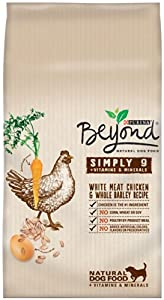 Purina Beyond Simply 9 White Meat Chicken and Whole Barley Recipe Natural Dog Food, 6/4lb bags