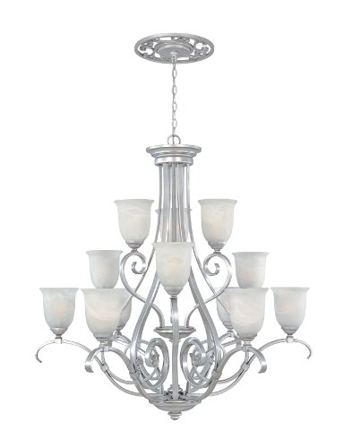 Simple Designers Fountain MTP Matte Pewter Kavala Chandelier