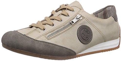 Rieker L9044, Low-Top Sneaker donna, Bianco (Weiß (staub/offwhite/staub / 42)), 39