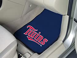 Minnesota Twins universal fit Carpet 2 Pc Car Floor Mat (Rug)