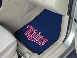 Minnesota Twins universal fit Carpet 2 Pc Car Floor Mat (Rug)