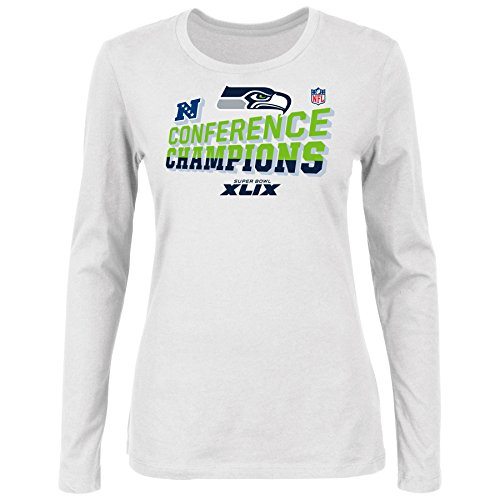 Seattle Seahawks Women's 2014 NFC Conference Champions Locker Room L/S T-Shirt (Nfc Champions Tshirt 2014 compare prices)