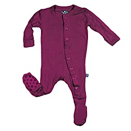 KicKee Pants Footie, Orchid, 3-6 Months