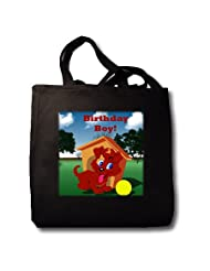 Edmond Hogge Jr Dogs Puppy Birthday Boy Tote Bags
