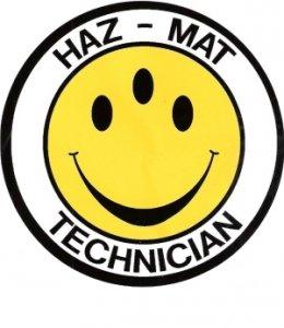 HazMat Three Eyed Smiley Face Decal (Hazmat Decals compare prices)