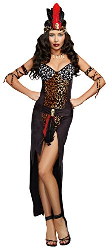Dreamgirl Womens Religious Voo Doo Priestess Black Ultra Suede Fancy Costume