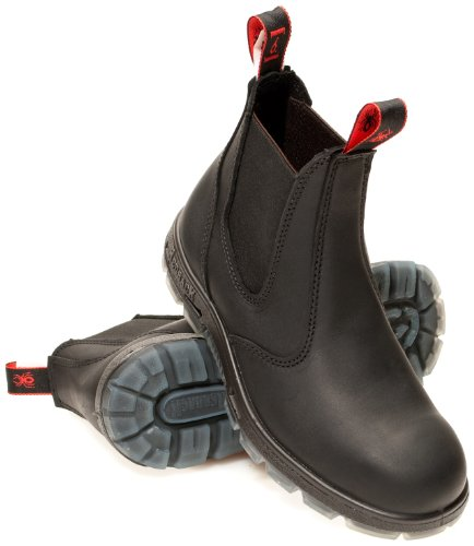 Redback USBBK Chelsea Boots Black  Steel Toe