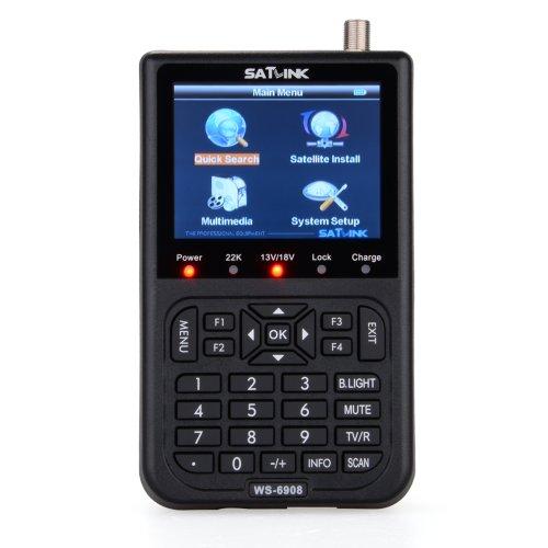 General Shop Professional SatLink WS 6908 3.5 - Inch l Digital Satellite Signal Finder Meter