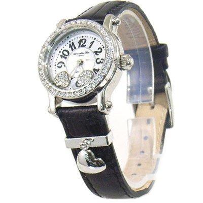 Alessandra Olla (アレサンドラオーラ) 腕時計 ムービングハート AO-4100-4 BK レディース