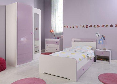 Jumbo-Möbel Kinderzimmer YASMIN 2 in Weiß & Lila – Komplettset online kaufen