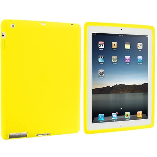 Cell Accessories For Less (Tm) Yellow Silicone Soft Skin Case Cover For Apple Ipad 4Th 3Rd 2Nd Gen // Free Shipping By Thetargetbuys front-955388