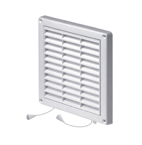 Hit&Miss Air Vent Grille Cover 165 x 165mm (6.5 x 6.5inch) White High Quality ABS Plastic