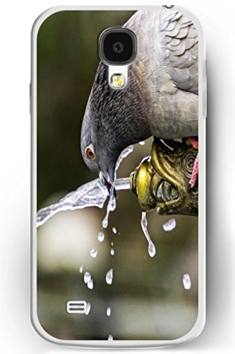 Sprawl Samsung Galaxy S4 Case Cute Wild Animal Style Hard Skin Cover Shell For Mobile Phone Galaxy S Iv-- Pigeon Drink Water