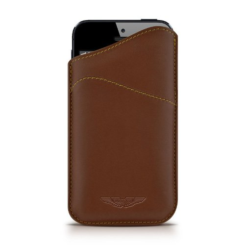 Beyzacases Slim ID Aston Martin Series Custodia per iPhone 5, Marrone Chiaro