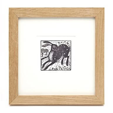 Leaping Hare (Framed Print)