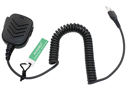 SUNDELY Handheld/Shoulder Mic with Speaker & 3.5 mm Audio Jack on 1 Size for Midland/Alan 2 Two Way Radio G5 G6 G7 G8 G9 G10 2-pin
