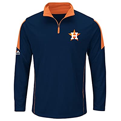 "Houston Astros Majestic MLB ""Status"" Cool Base 1/4 Zip Performance Shirt"