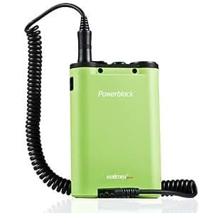 Walimex Pro Powerblock II Externer Akku für Canon Kamerasystemblitze 430EZ / 540EZ / 550EX / 580EX / 580EX II / 600EX-RT grün