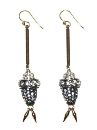 Beth Lauren Oriental Earrings - Brass