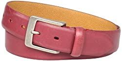 Levi's Men's Levis 35MM Belt With Embossed Two-Horse Logo, Red, 42