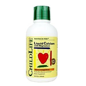 Child Life Liquid Calcium/Magnesium,Natural Orange Flavor Plastic Bottle, 16-Fl. Oz.