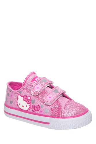 Hello Kitty Toddler's Lil Fallon Hook & Loop Low Top Sneaker