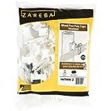 Zareba IWTNW-Z Poly Tape Wood Post Insulator, White, 25 per Bag