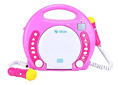 XX.Y BT023Pink haut-parleur sans fil avec mains libres (Bluetooth, NFC, 2x 5 Watt) rose