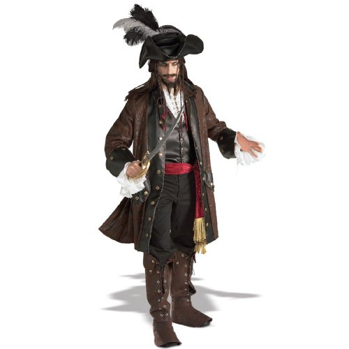 Caribbean Pirate Costume - X-Large - Chest Size 44-46 front-508738