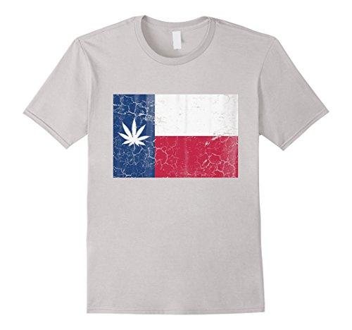 Marijuana-Pot-Leaf-Flag-Of-Texas-T-Shirt