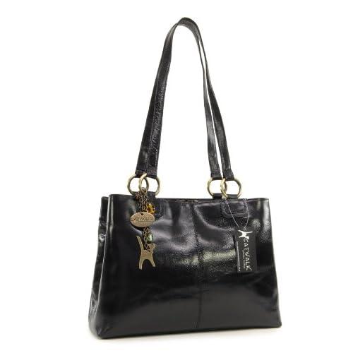 Catwalk Collection Big Tote Shoulder Bag - Bellstone - Vintage Leather