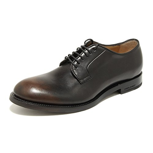 9585G scarpa uomo marrone nera DSQUARED D2 handmade scarpe shoes men [42.5]