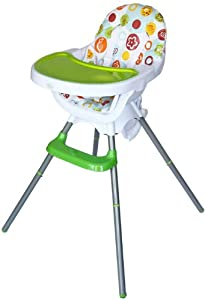 Bebe Style Deluxe 3-in-1 Modern Highchair/ Junior Chair and Booster (Green)