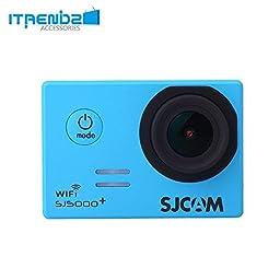 Video Camcorder, Itrendz Blue Sj5000 Plus Wifi Sports Action Camera Sjcam Sj5000+ Water Resistant Helmet Head Video Camcorder