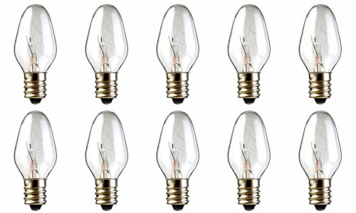 10-Pack 15 Watt Bulbs for Scentsy Plug-In Nightlight Warmer wax diffuser, 15W 120 Volt (Lightbulb For Candle Warmer compare prices)
