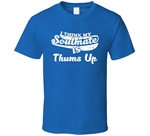 i-think-my-soulmate-is-thums-up-cool-drink-funny-worn-look-t-shirt-2xl-royal-blue