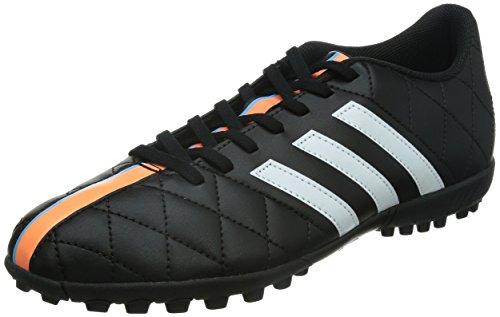 adidas Performance - 11Questra TF, Scarpe da calcio da uomo, Core Black/White/Flash Orange, UK Size 8